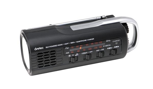 ドリテック さすだけ充電ラジオライト PR−321BK