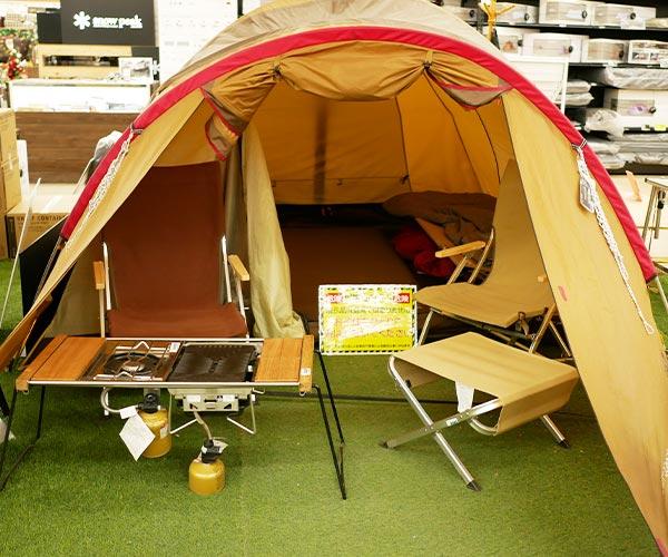 テント設置コーナー