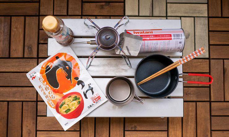 味噌汁の食材と機材
