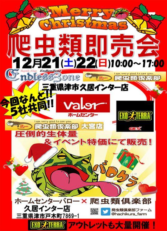 12月21・22日開催!爬虫類即売会