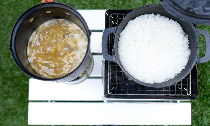 米も炊けた