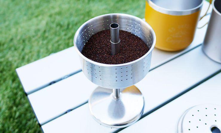 挽いたコーヒー豆をセット