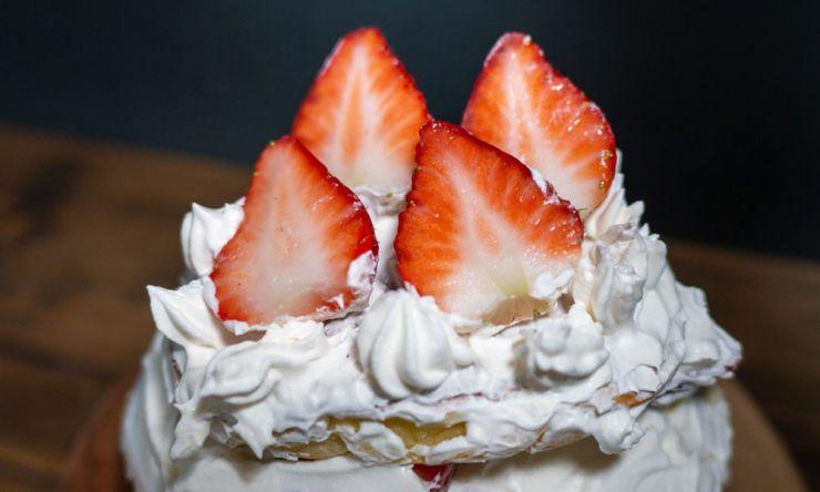 ホットケーキでお誕生日ケーキ
