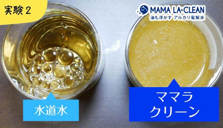 油の分解実験結果