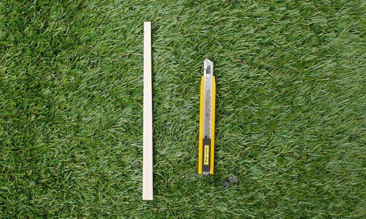 割り箸で練習
