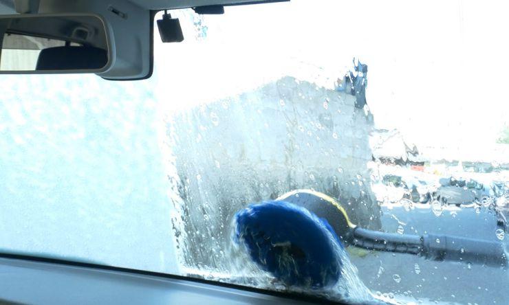 フロントガラスの洗浄
