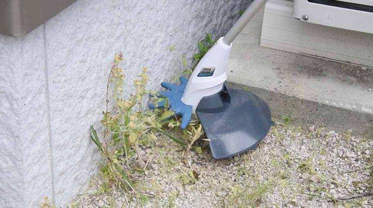 安全な樹脂ブレードで柔らかい草の刈り込みやキワ刈りに!