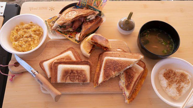 キャンプ朝食イメージ