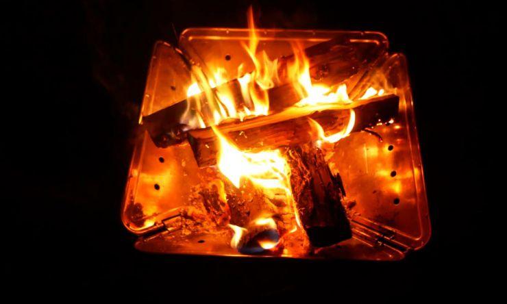 焚き火画像