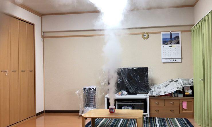 煙が出てくる