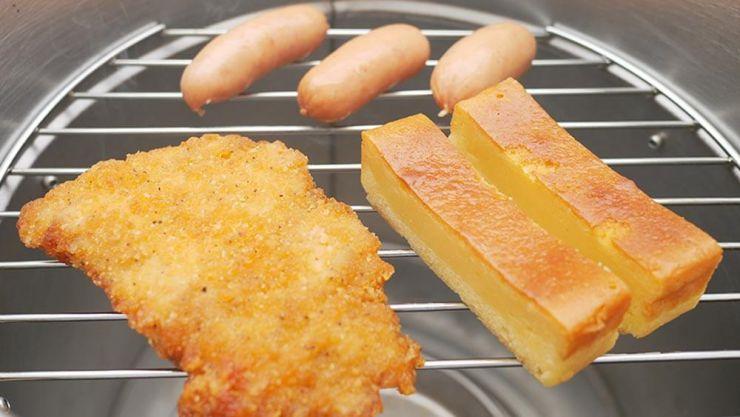 フライドチキン・チーズケーキ・ウインナー