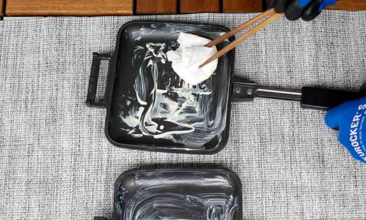 バターを塗る